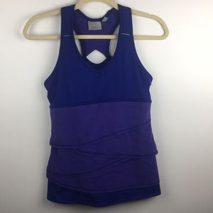 Athleta Swagger Purple Tiered Workout Tank Top S